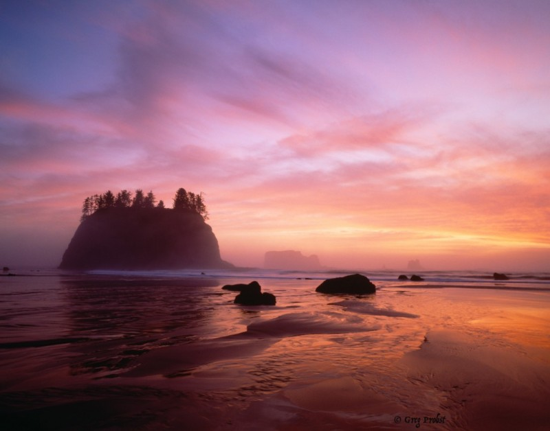 The Pacific Ocean at La Push, Washington; ©Greg Probst
