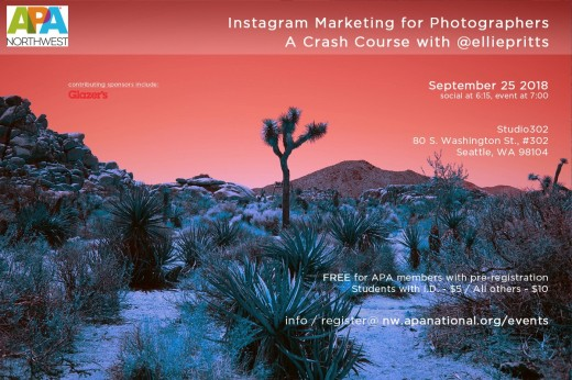 APA-Northwest Presents instagram Marketing for Photographers September 25, 2018